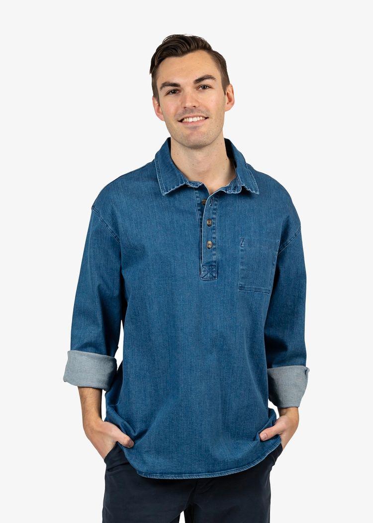 """Product image for """"Fiskarskjorta Jeans"""""""