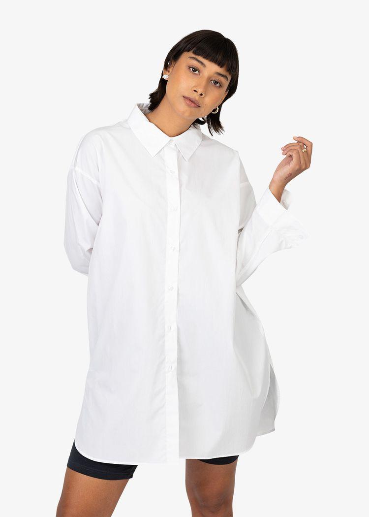 "Secondary product image for ""Frida Skjorta Poplin Vit"""