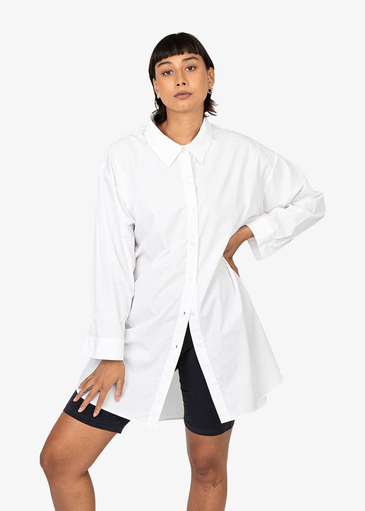 "Product image for ""Frida Shirt Poplin White"""