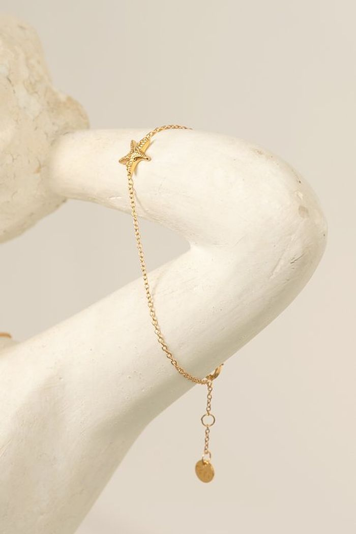 "Secondary product image for ""Armband Sjöstjärna Guld"""