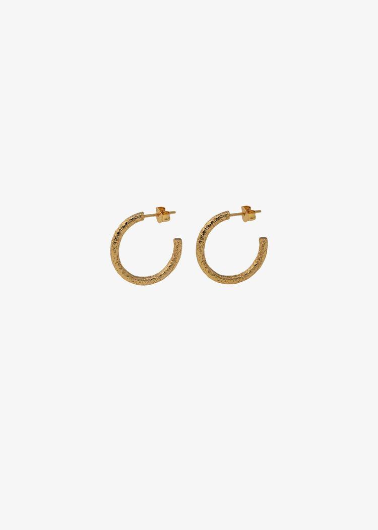 """Product image for """"Örhänge Cirkel Struktur Guld"""""""