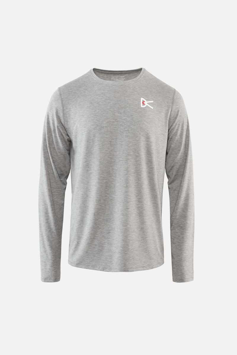 Tadasana Long Sleeve T-Shirt, Light Gray