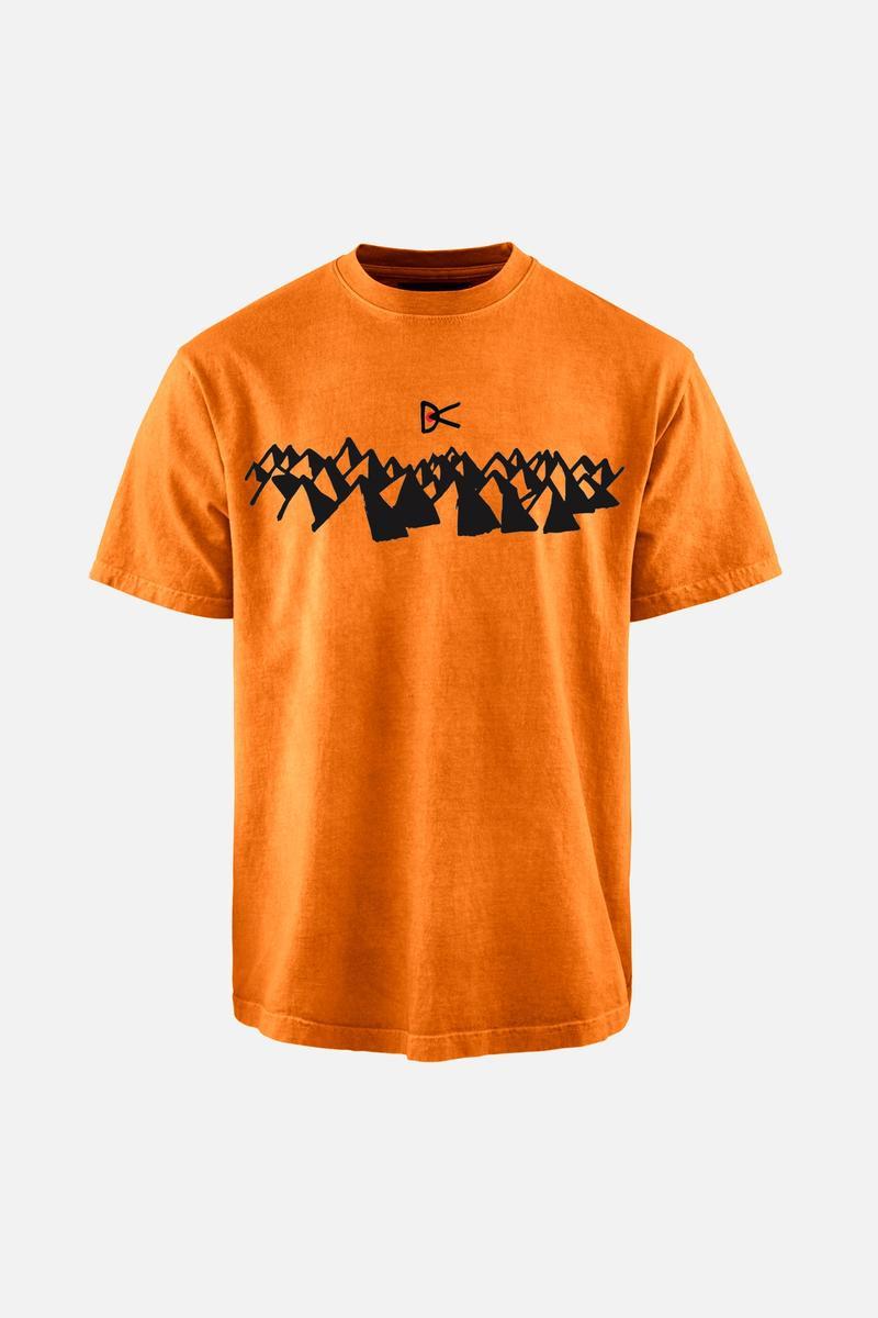 Karuna Short Sleeve T-Shirt, Saffron Icons