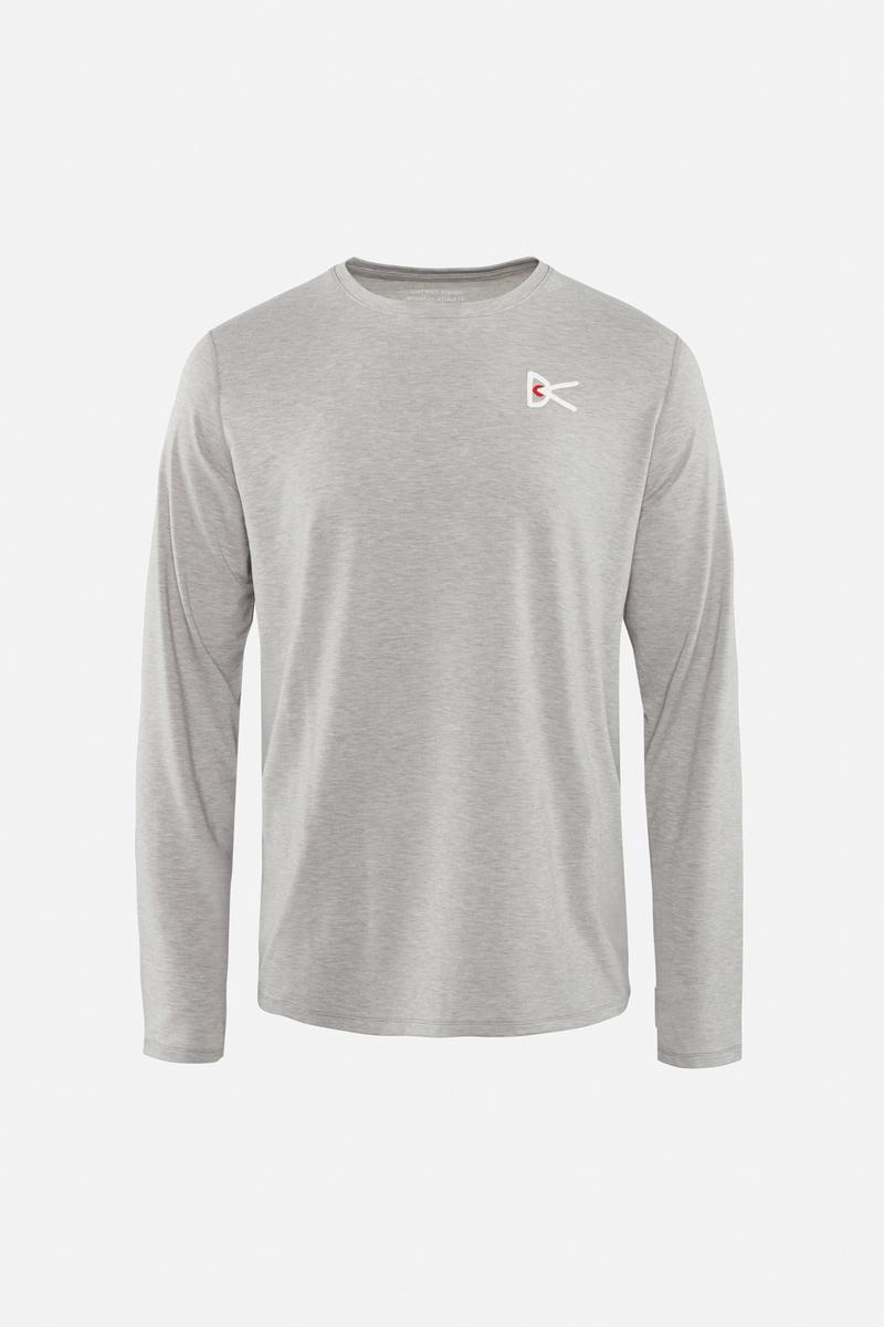 Tadasana Long Sleeve T-Shirt, Light Gray