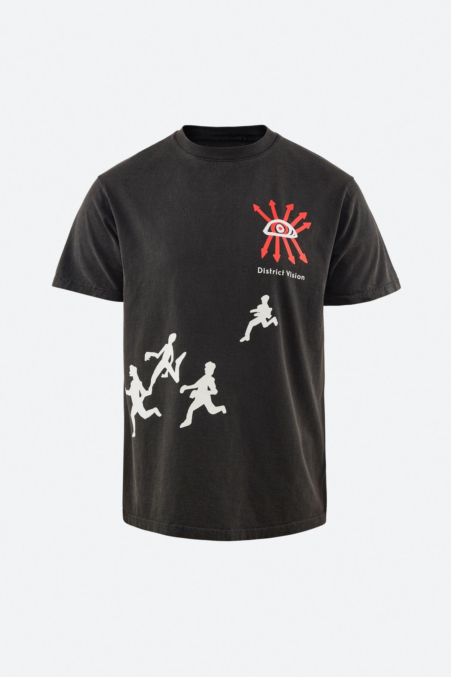 Karuna Short Sleeve T-Shirt, Black Runners