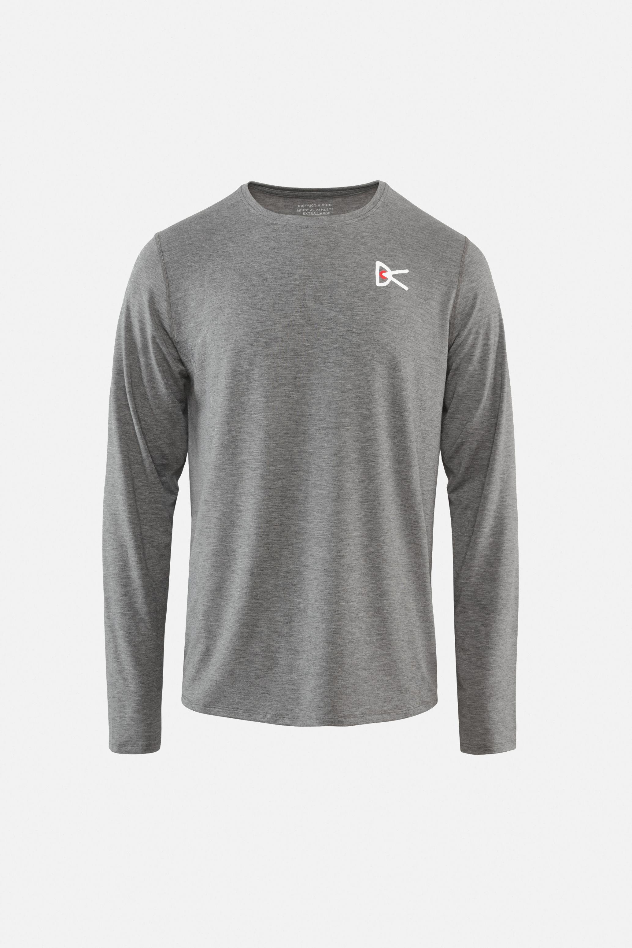 Tadasana Long Sleeve T-Shirt, Dark Gray