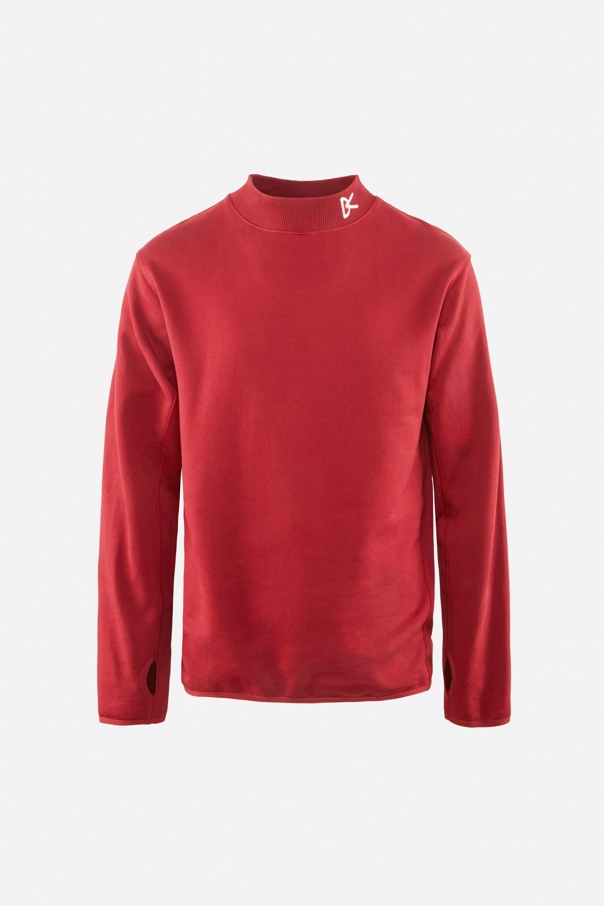 Hiei Mock Neck Sweatshirt, Burgundy