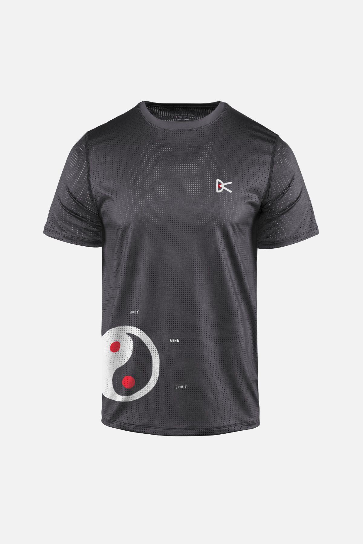 Peace–Tech Short Sleeve T-Shirt, Mind Body Spirit