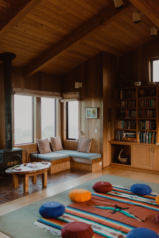 Meditation Cushions in living room