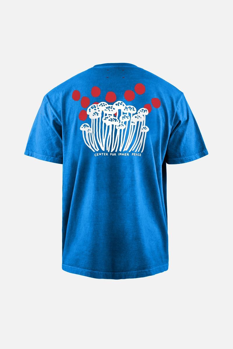 Karuna Short Sleeve T-Shirt, Blue Shrooms