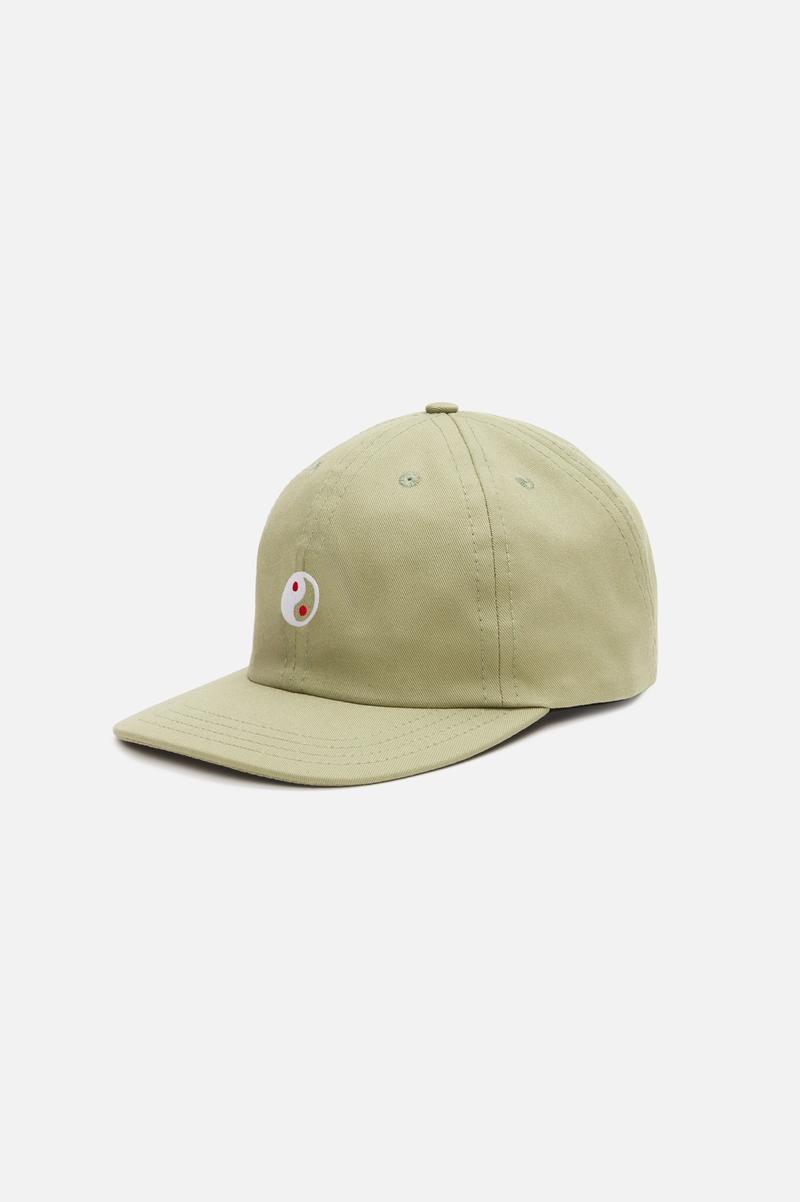Zen Slow Cap, Khaki with Yin & Yang embroidery
