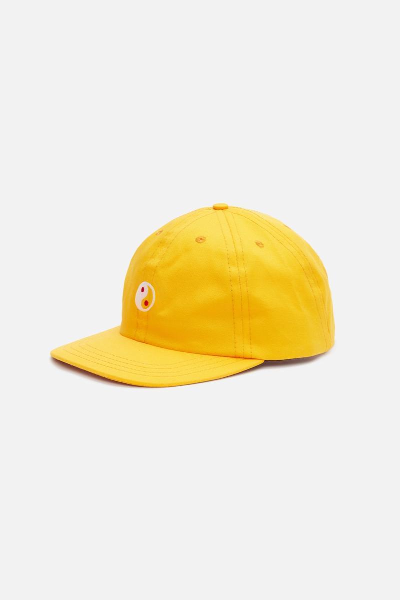 Zen Slow Cap, Yellow with Yin & Yang embroidery