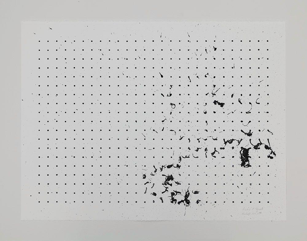 Tornado Drawing, CAM Raleigh, NC, USA (black and white, 2), 2013