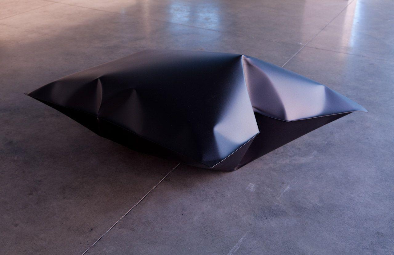 Uncertain Principle, black powder coated stainless steel