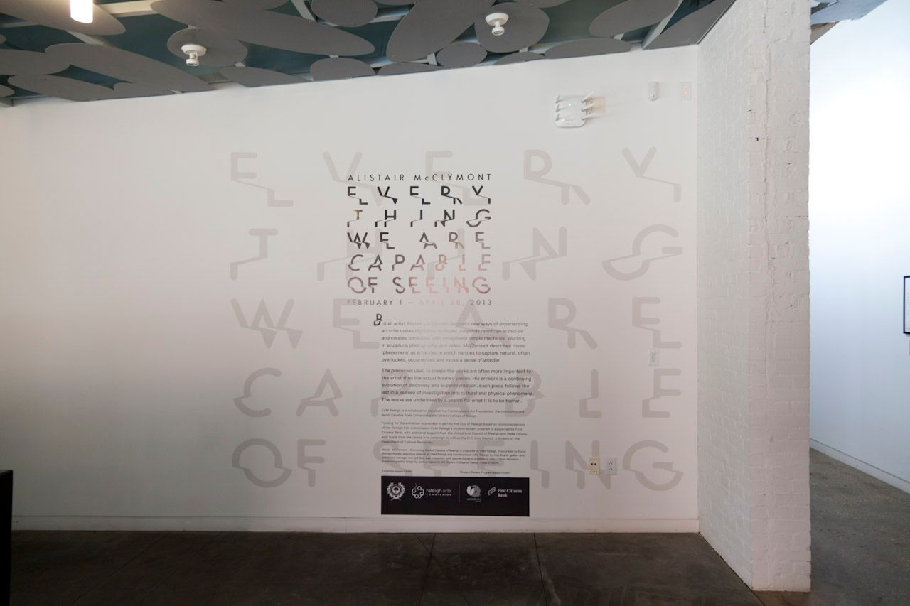 Introduction text at entrance to show