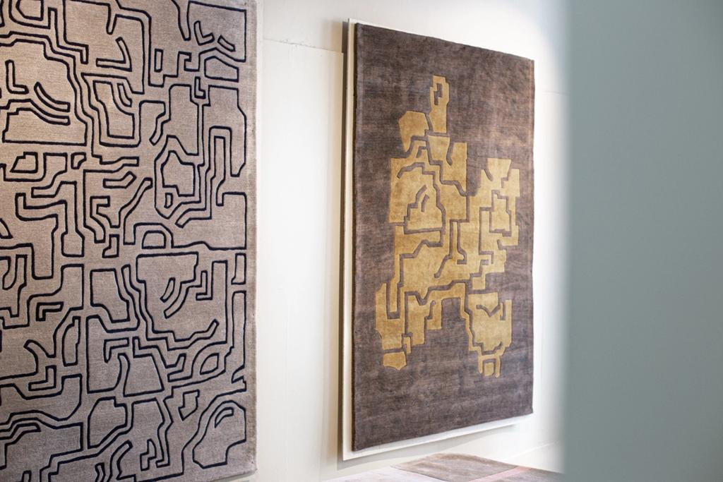 Rugs on wall