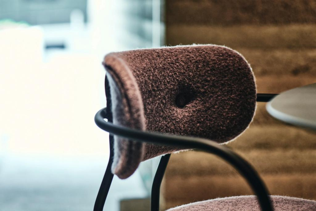 OEO Studio designed Coco Chair from Gubi with Nishijin upholstery from Hosoo