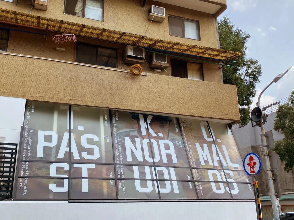 Pas Normal Studios window facade in Taipei