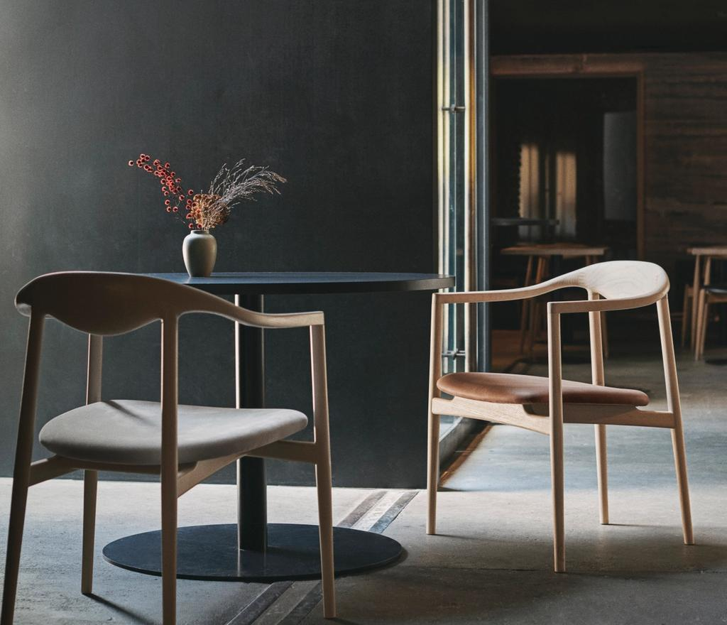 OEO Studio designed Jari Chairs for Brdr. Krüger with round table