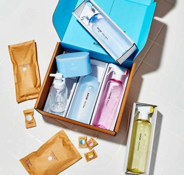 Everyday Clean Kit in box: 3 refillable cleaning bottles,1 Foaming Hand Soap, 40 dishwasher tablets, Powder Dish Soap