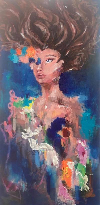 painting called ocean bluey