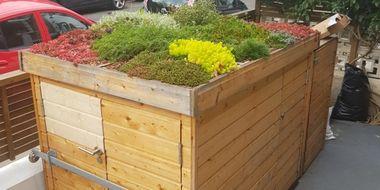 Bin Shelter Gardening