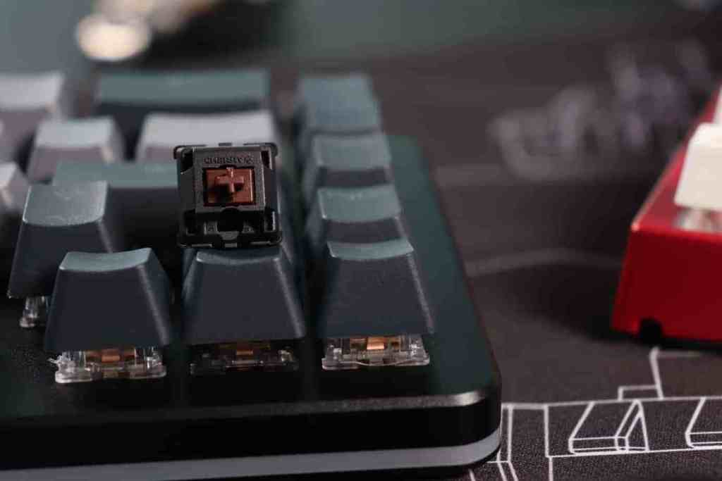 Zoom sur un switch Cherry MX Brown