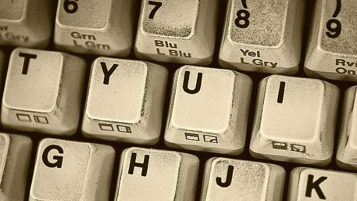 Touches sales d'un clavier mécanique