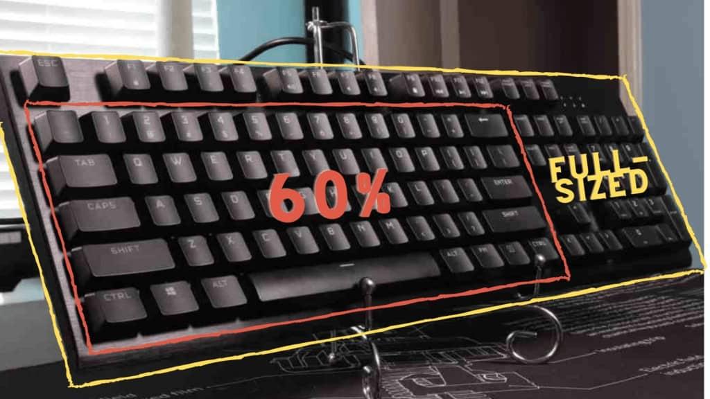 Présentation de la différence entre un clavier 60% et un clavier 100%