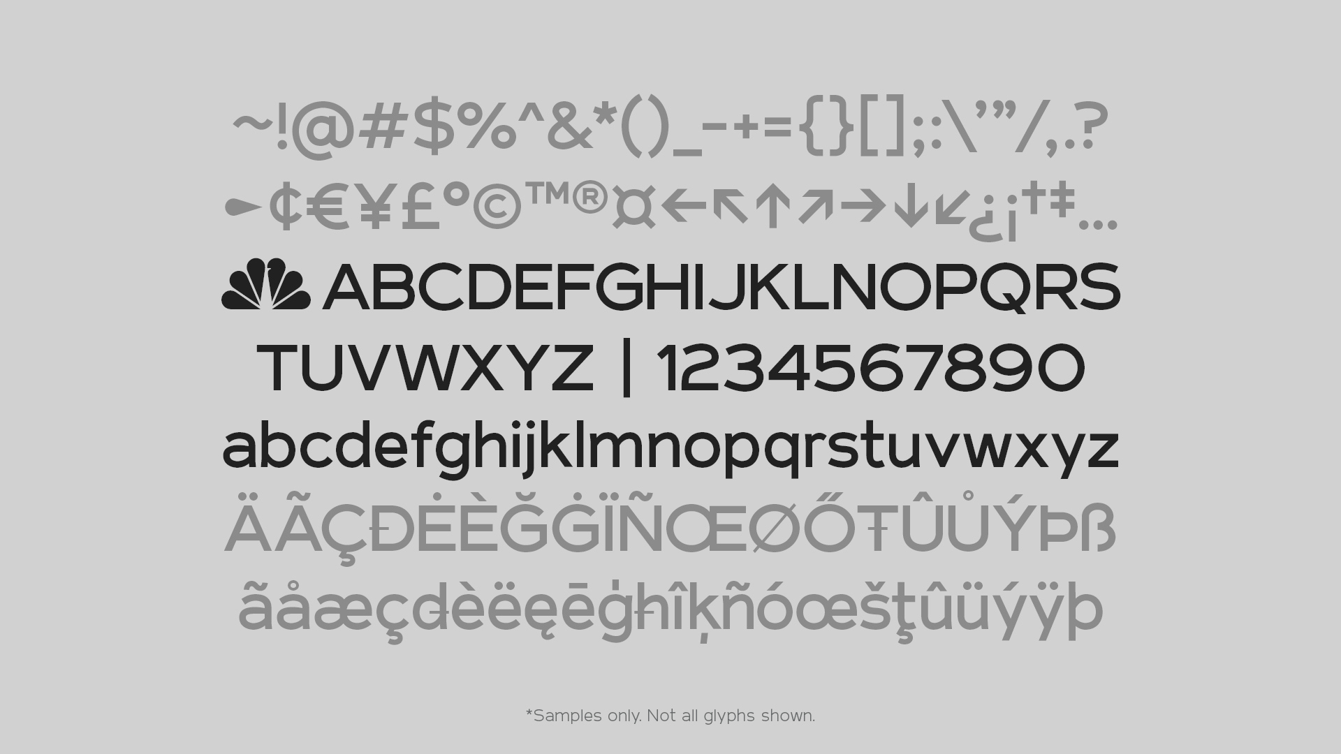 Capacity : NBC Tinker Bespoke Typeface