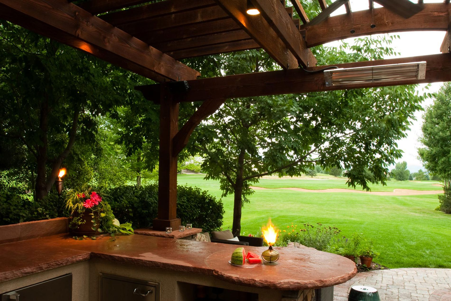 Outdoor Kitchen on the Golf Course