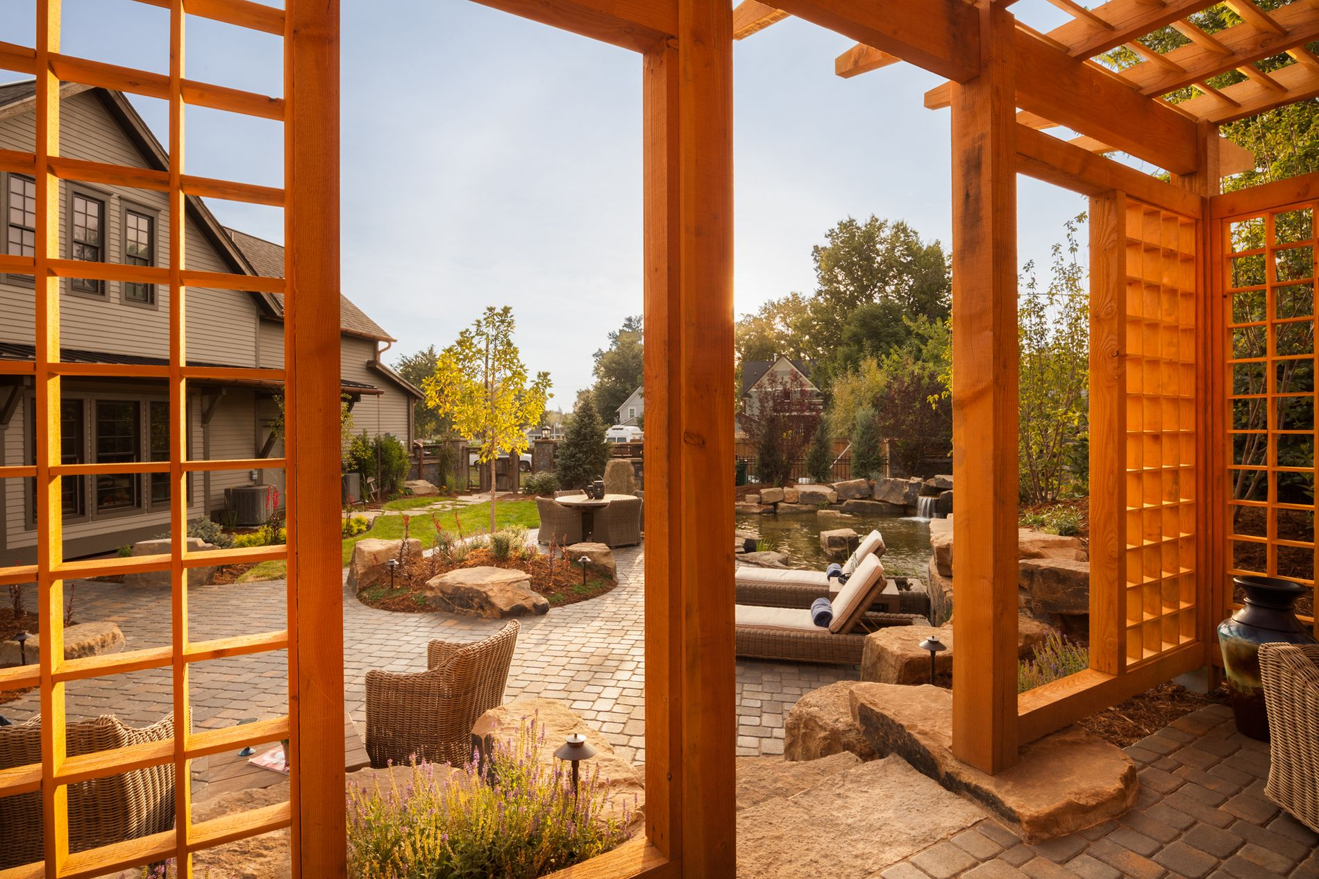 Paver Patio and Shade Structure