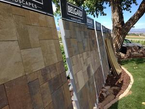 Largest Belgard decorative concrete paver display boards in Colorado