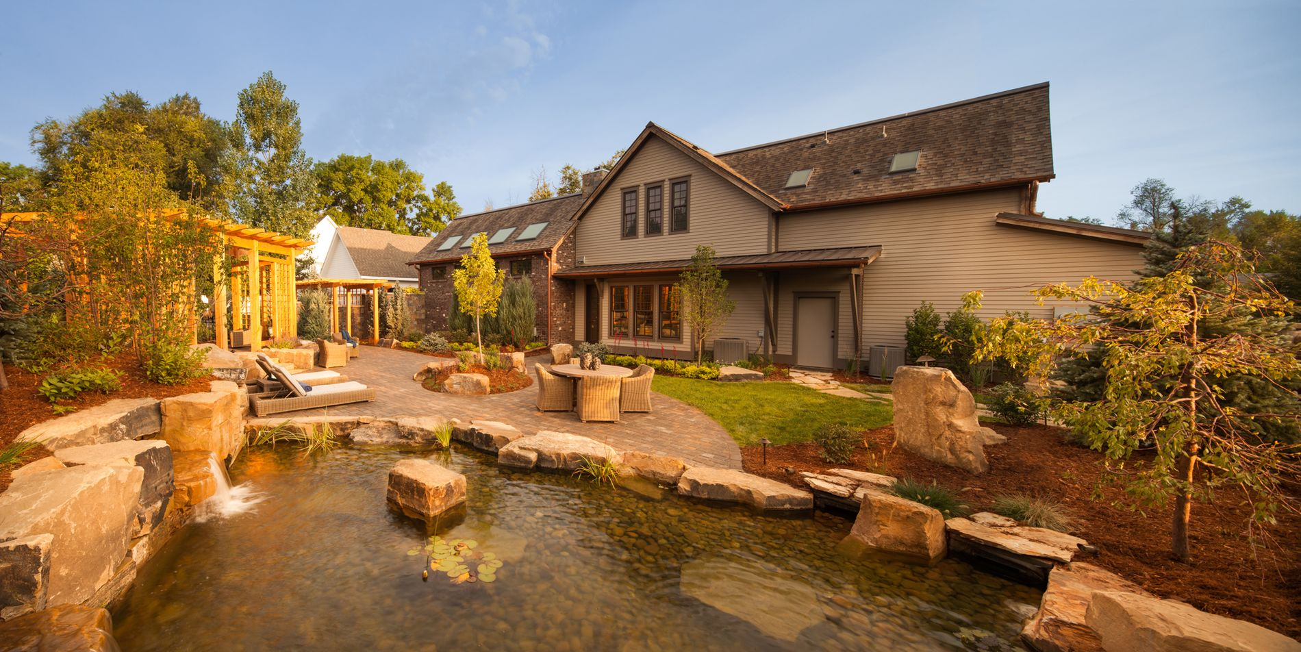 Water Feature and Paver Patios