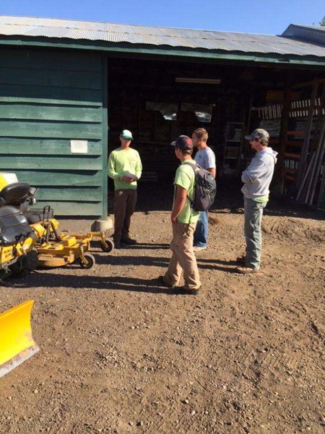 Training employees on Walker plows
