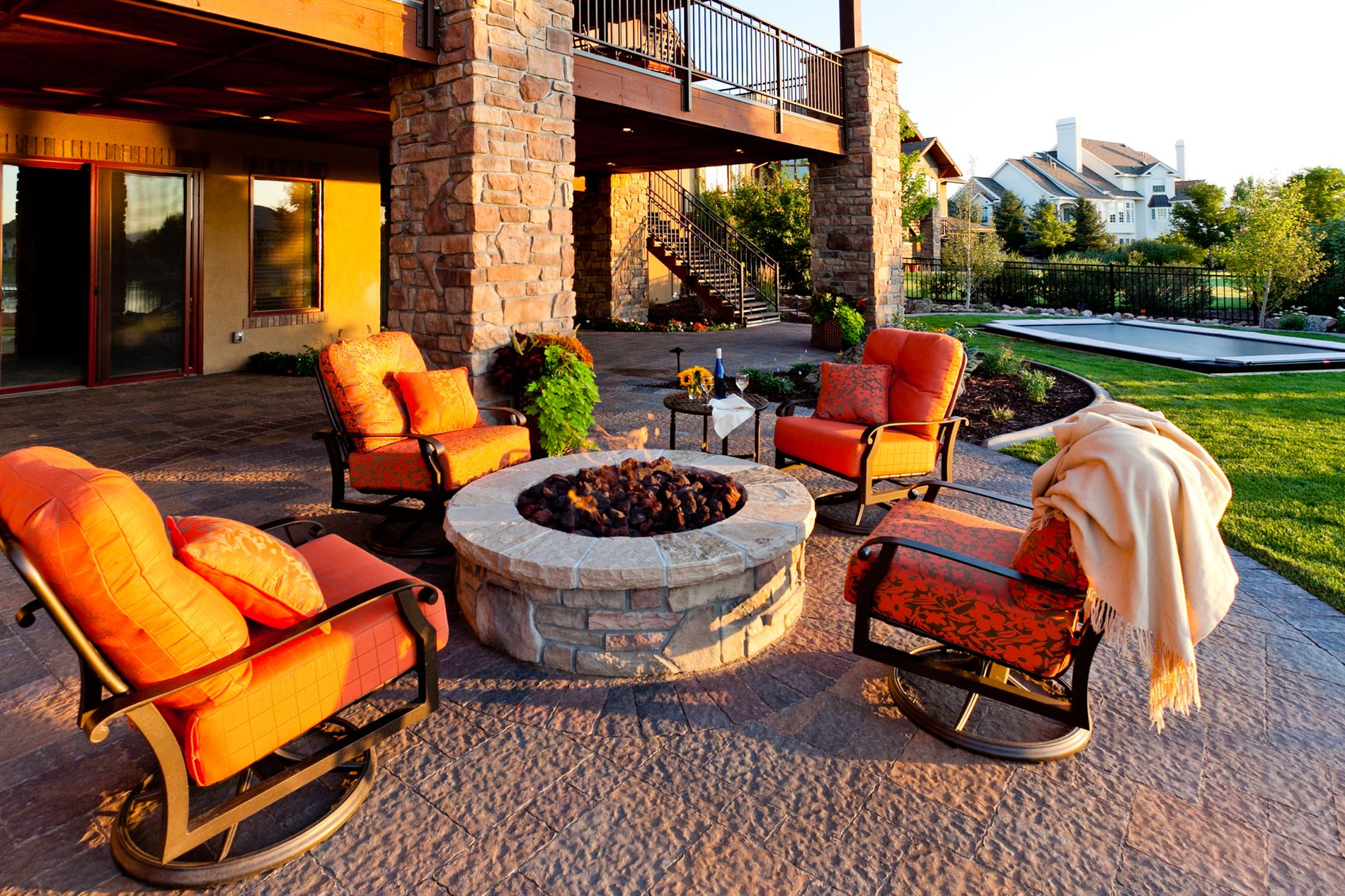 Fire Pit and Paver Patio