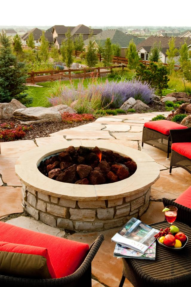 Custom Fire Pit on Top of the Hill