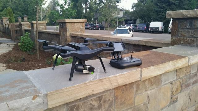 Drone ready to film landscape project