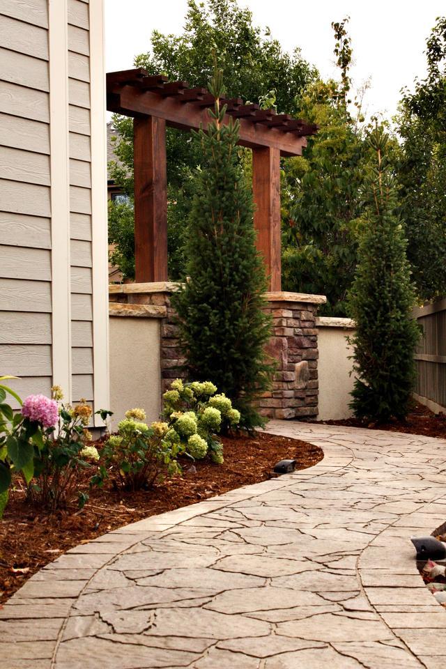 Paver Sidewalk with Arbor