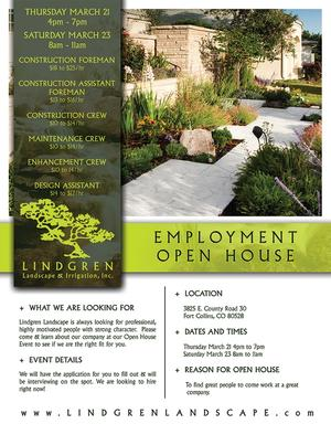 Employment Open House Flyer