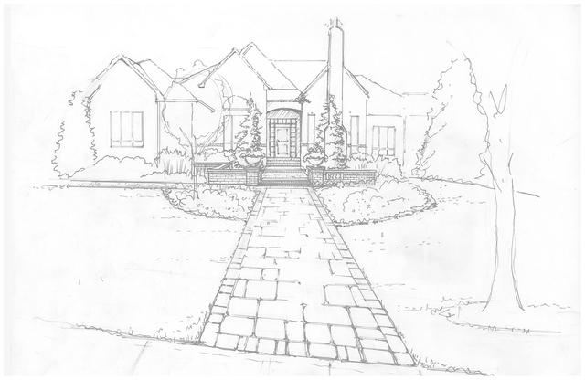 Hand Sketch of Front Entrance