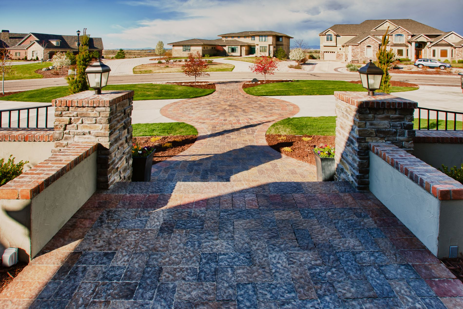 Decorative Concrete Paver Entrance