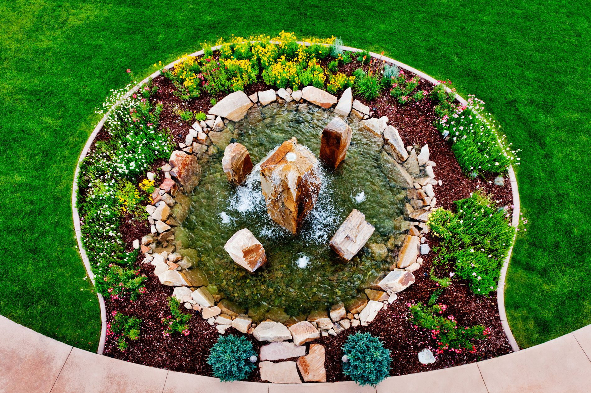 Cored Boulder Water Feature