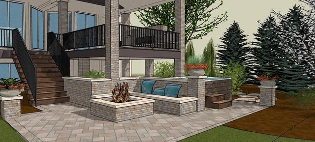 3D Model of Outdoor Living Space