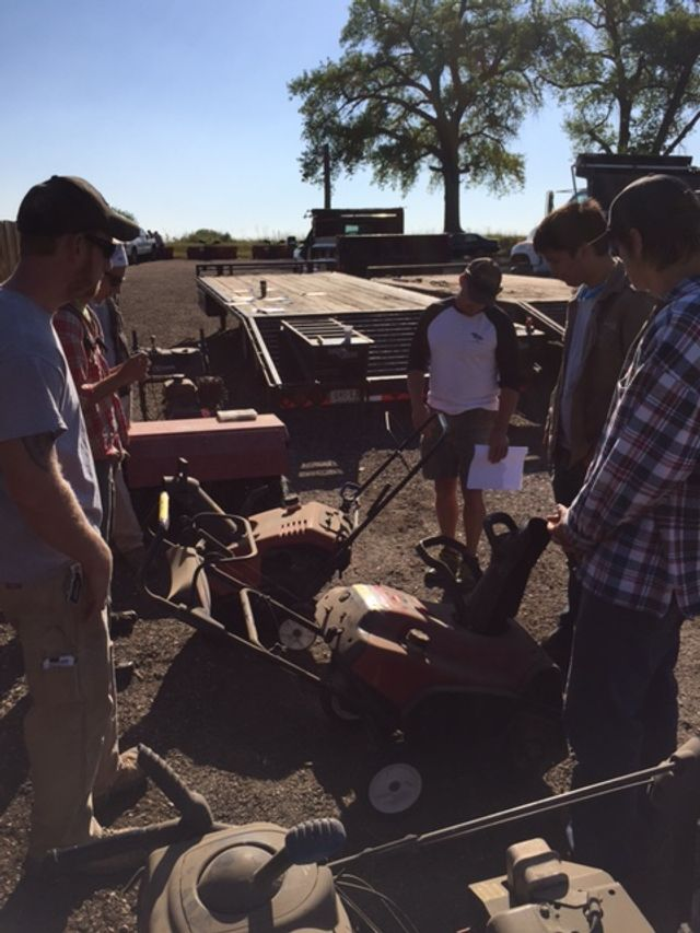 Training employees on snow blowers