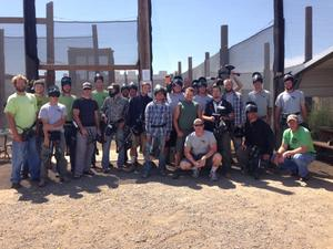 Lindgren employees play paintball