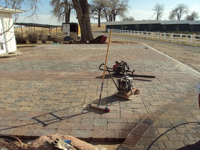 Paver driveway display is wrapping up