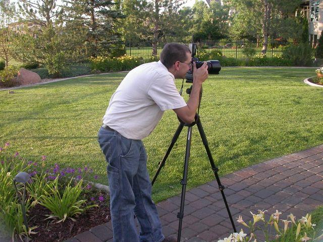 Photographer shooting landscape project