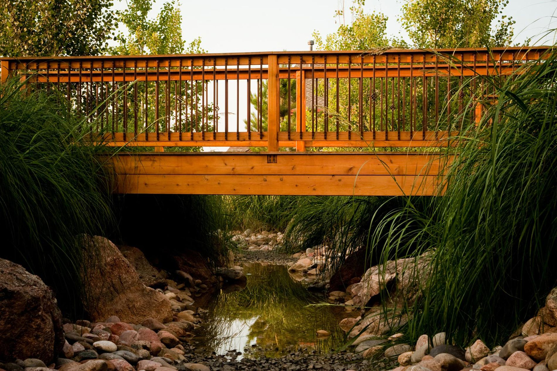 Custom Bridge over Drainage Swale