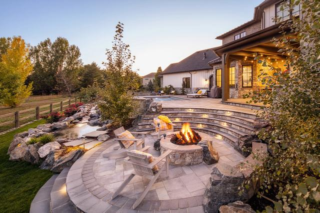 Fire Pit Near Swimming Pool